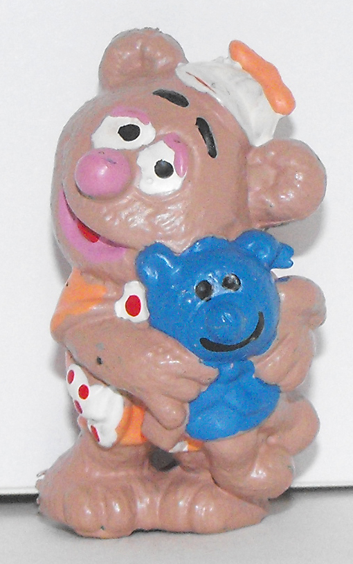 Baby Fozzy with Teddy Bear Muppets Figure Plastic Figurine
