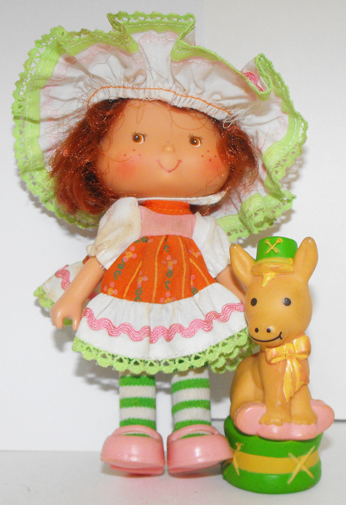 Party Pleaser Cafe Ole Doll and Pet Donkey Vintage Strawberry Shortcake