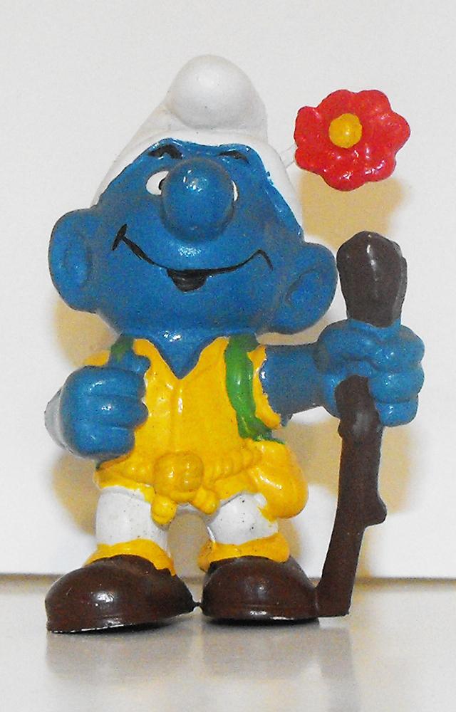 Hiker Smurf Vintage Plastic Figurine 20041