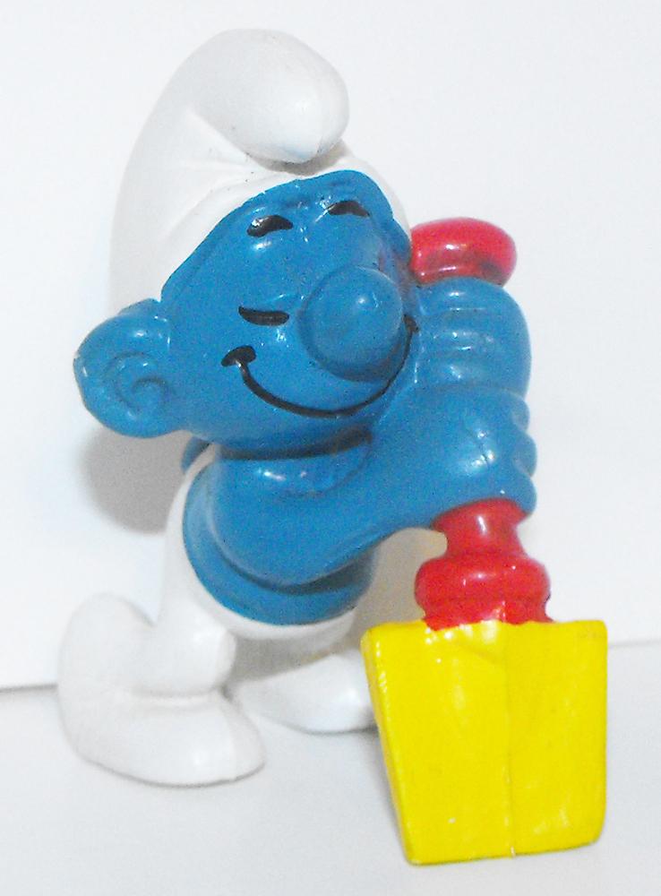 Digger Smurf Vintage Figurine 20043