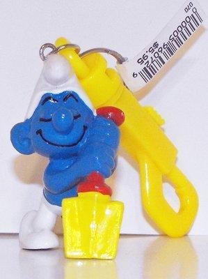 Digger Smurf Vintage Figurine Key Chain 20043kc