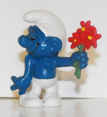 Lover Smurf 2 inch Vintage Figurine 20044