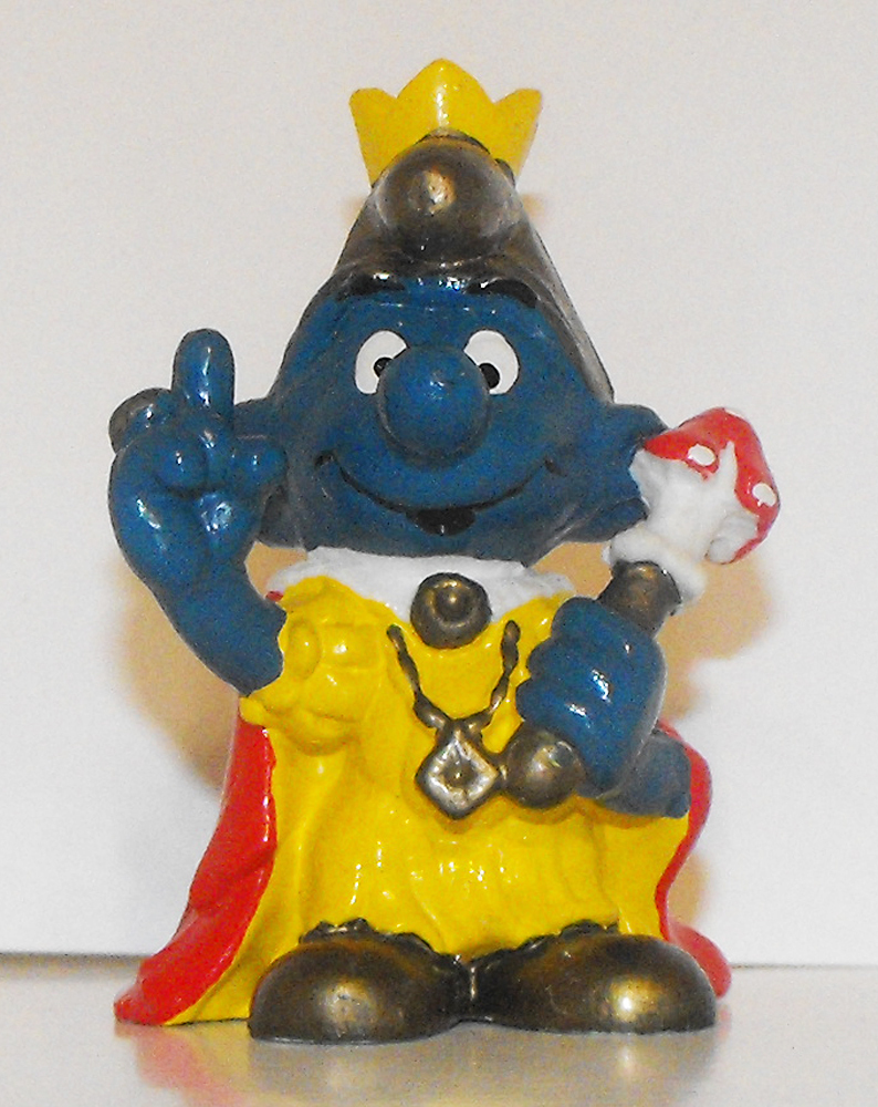 Emperor (gold hat) Smurf Vintage Figurine 20046