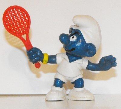 Tennis Star Smurf 2 inch Vintage Figurine 20049