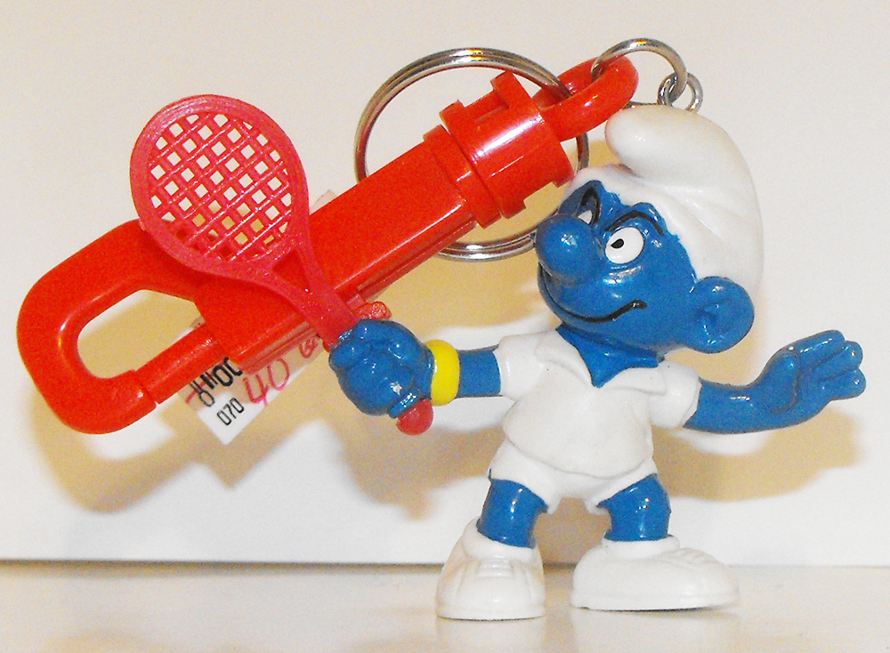 Tennis Star Smurf Figurine KeyChain 20049kc