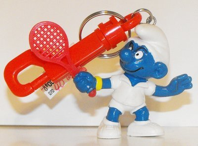 Tennis Star Smurf Figurine KeyChain 20049kc