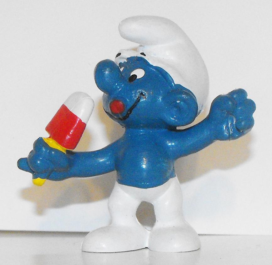Ice Jolly Smurf Vintage 2 inch Figurine 20053