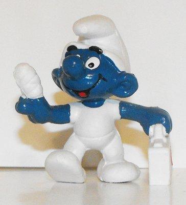 First Aid Smurf Vintage Plastic Figurine 20054
