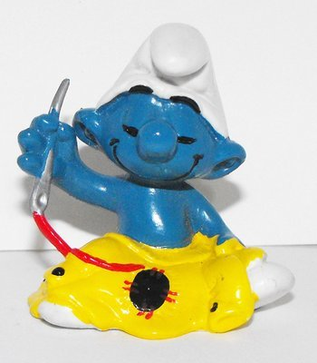 Tailor Sewing Smurf Vintage Figurine 20063