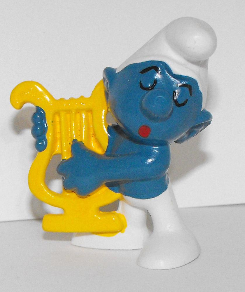 Harp Smurf 2 inch Vintage Figurine 20070