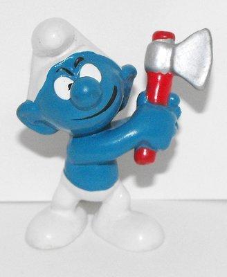 Woodcutter Smurf 2 inch Vintage Figurine 20087