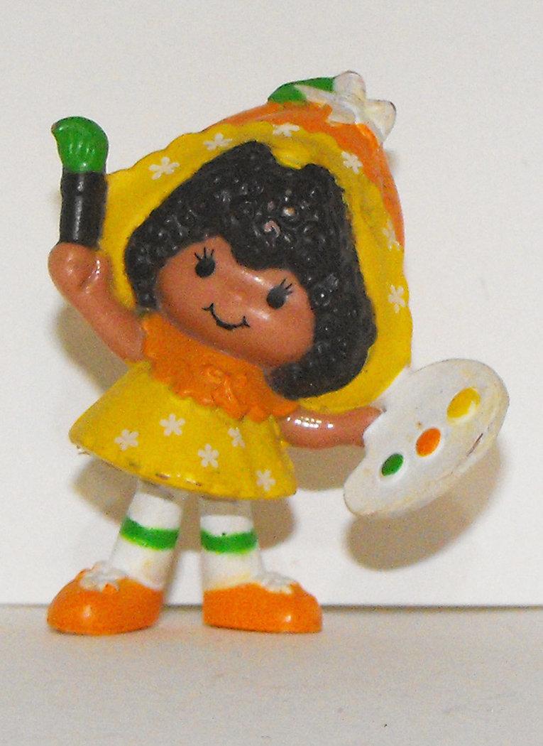 Orange Blossom Painting Vintage Miniature