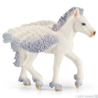 Pegasus Foal with Glitter Wings Figurine Bayala Schleich Fairy Horse Figure