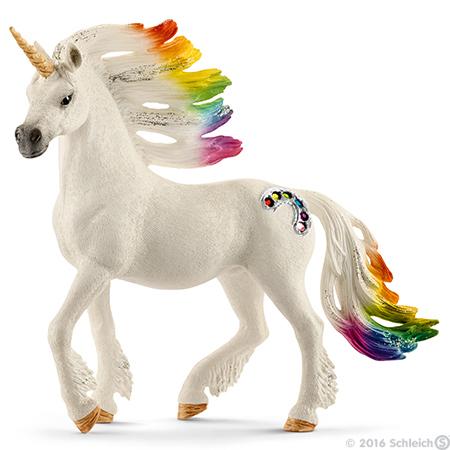 Rainbow Stallion Unicorn Bayala Figurine Schleich Fairy Horse Figure