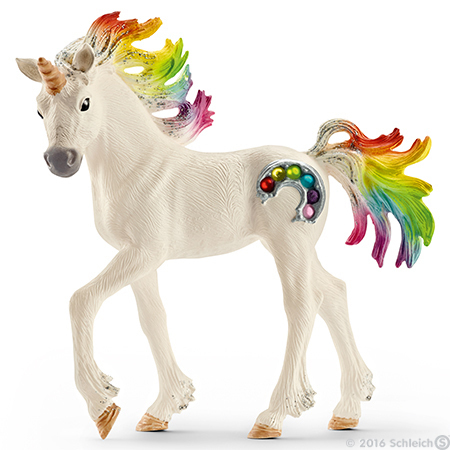 Rainbow Foal Unicorn Bayala Figurine Schleich Fairy Horse Figure