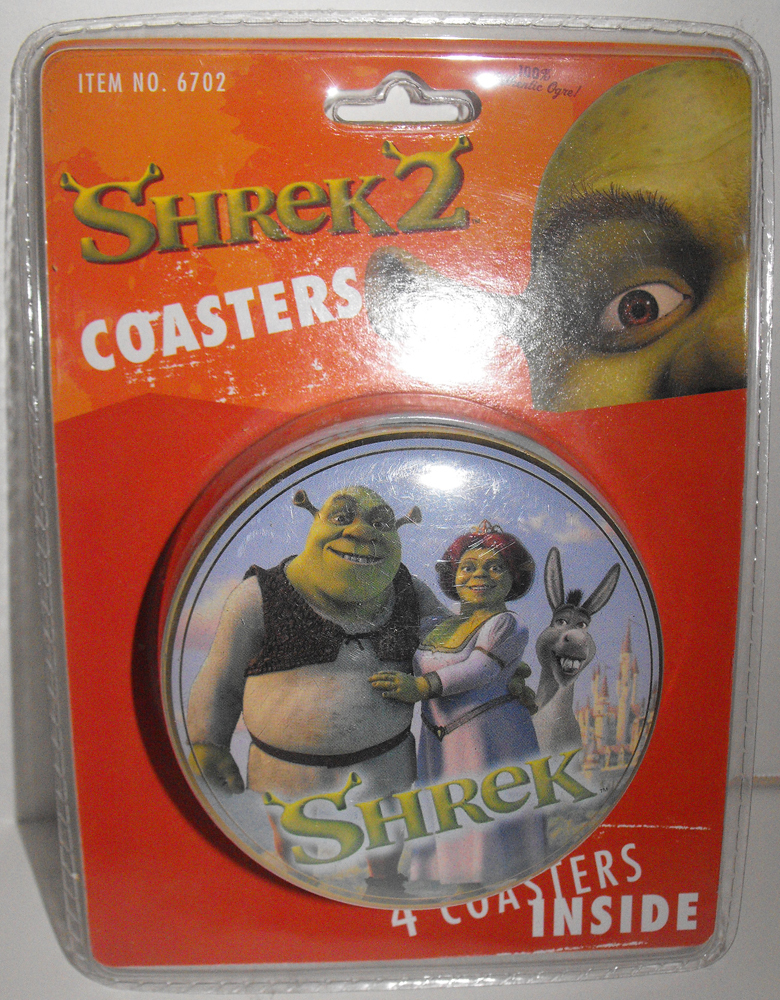 Shrek 4 Coasters in a Collectable Tin New in Package