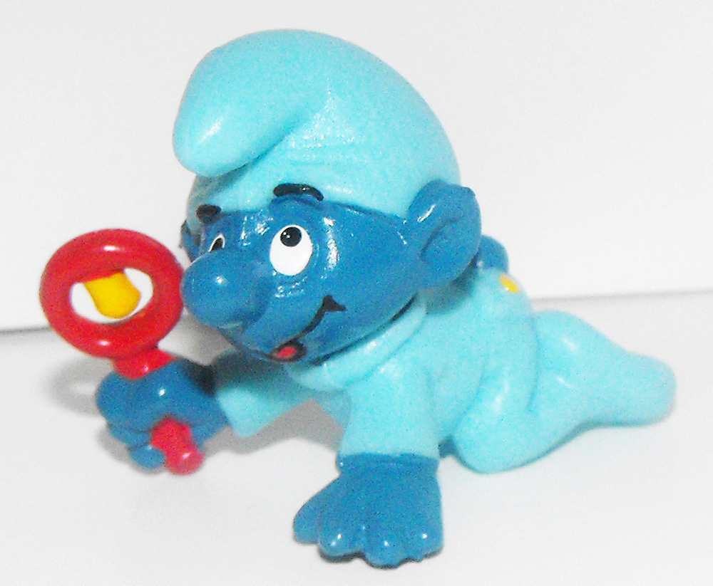 Blue Baby Smurf with Rattle Figurine 20203