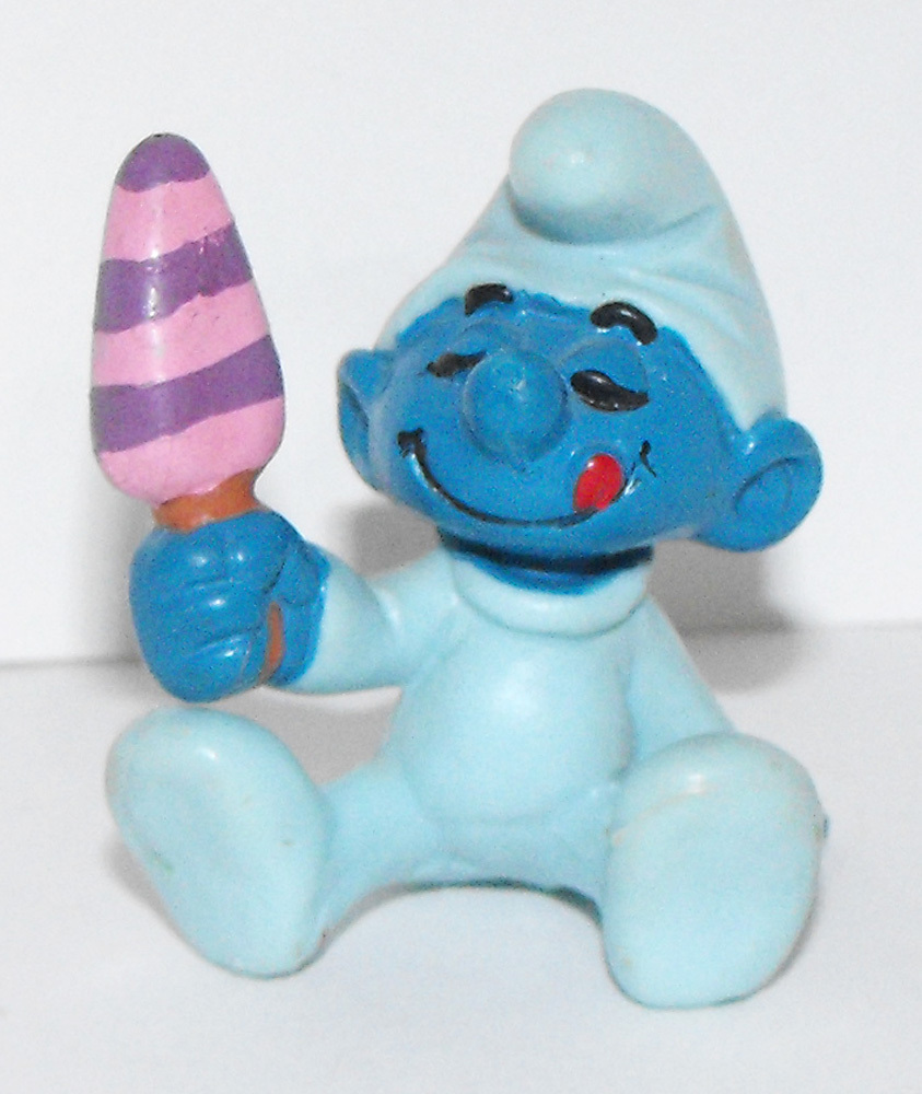 Baby Smurf with Ice Cream Plastic Figurine 20206
