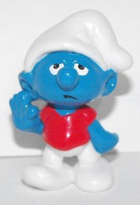 Slouchy Smurfling Vintage Plastic Figurine 20402