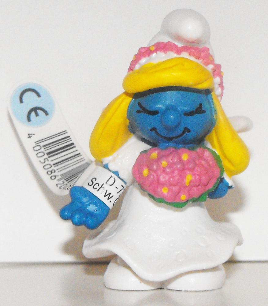 Bride Smurfette 2 inch Plastic Figurine 20412