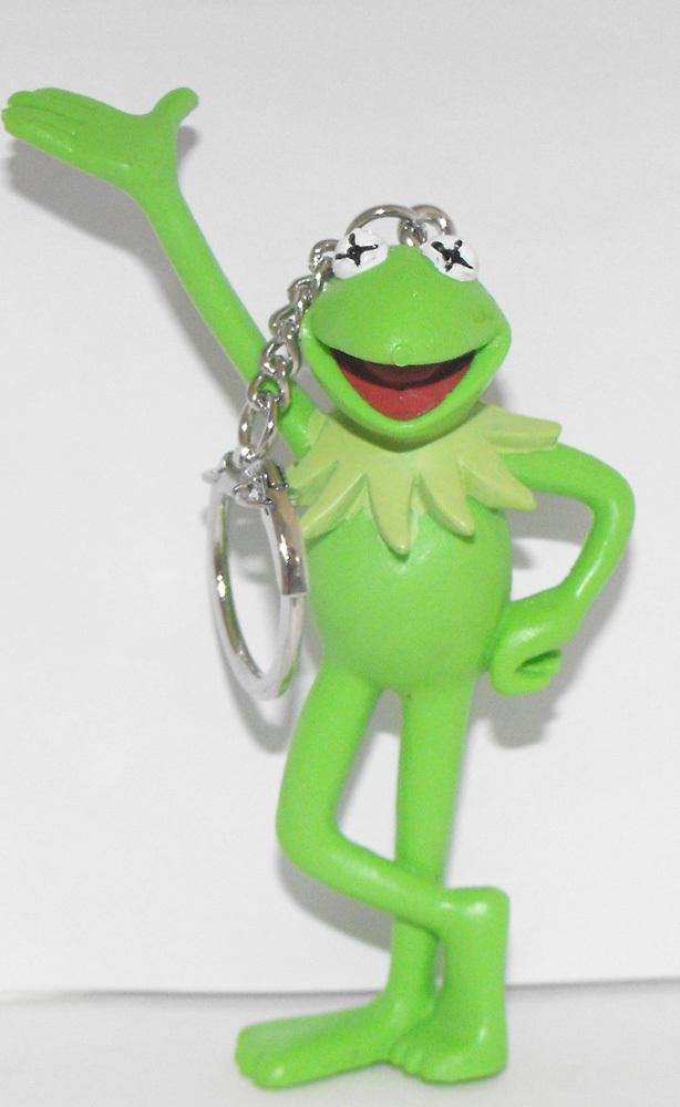Kermit the Frog 3 inch Plastic Figurine Keychain Plastic Figure Key Chain