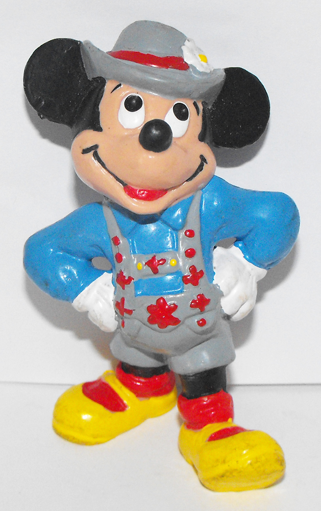 Mickey Mouse from Sweden Blue Plastic 3 inch Plastic Figurine