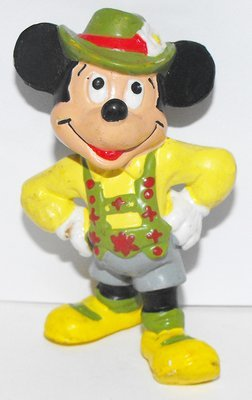 Mickey Mouse from Sweden Yellow Plastic 3 inch Plastic Figurine