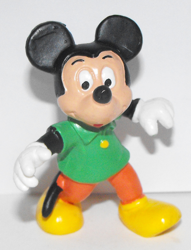 Mickey Mouse in Green Shirt 2 inch Figurine