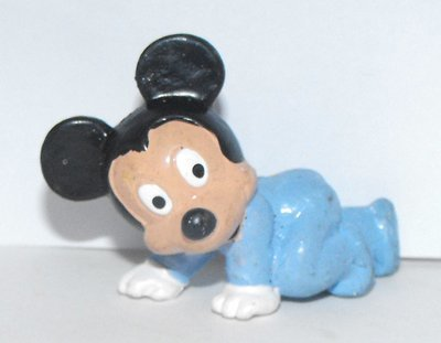 Baby Mickey Mouse Crawling 1 inch Plastic Figurine