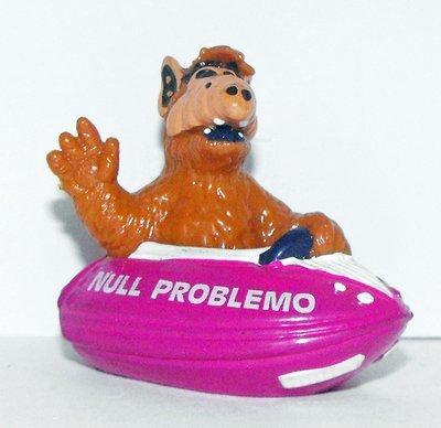 Alf in Purple Boat Plastic 1 inch Figurine