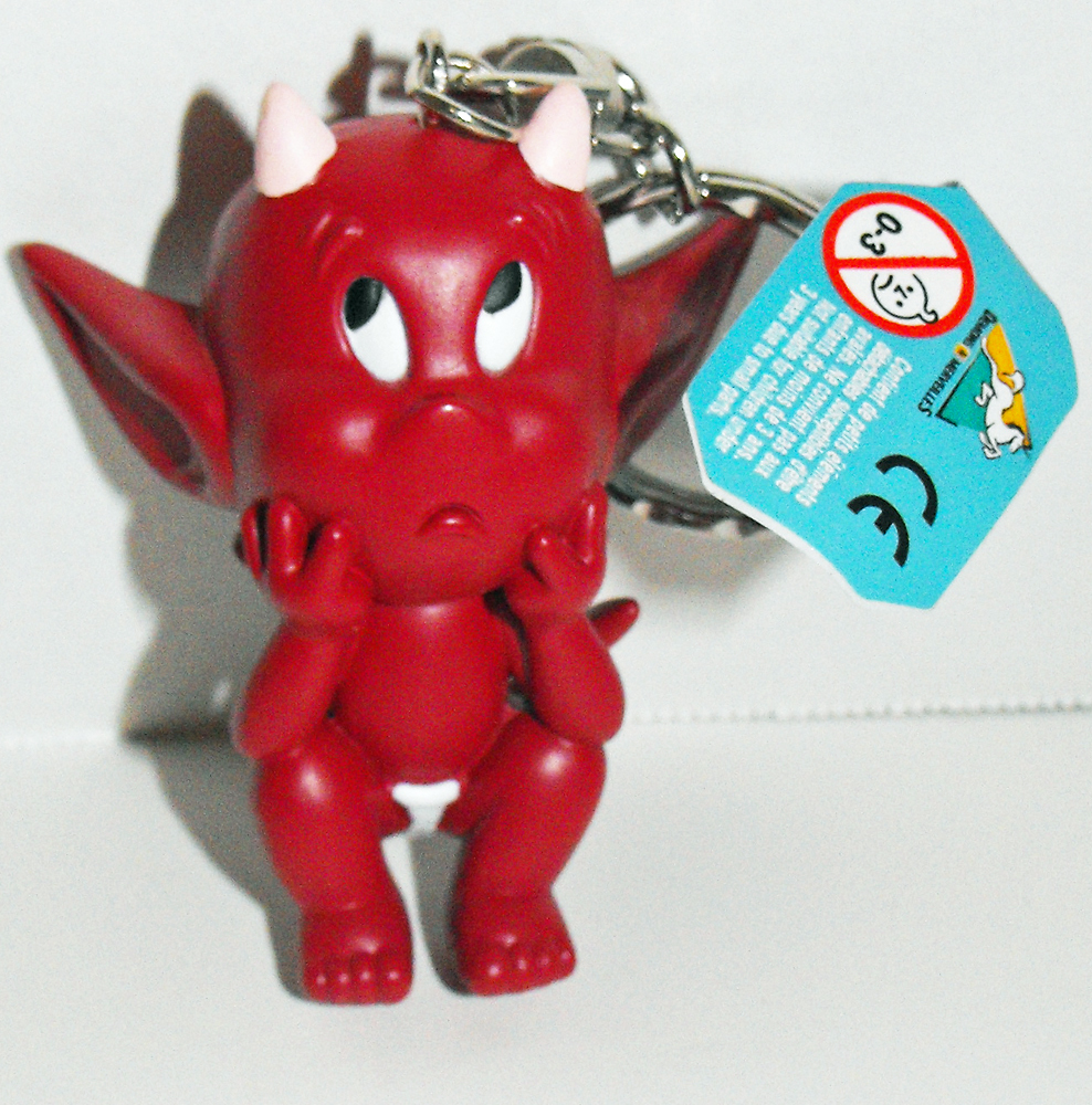 Hot Stuff Thinking Figurine Key Chain Plastic Figure KeyChain