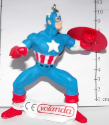 Captain America Marvel Super Hero Figurine Keychain