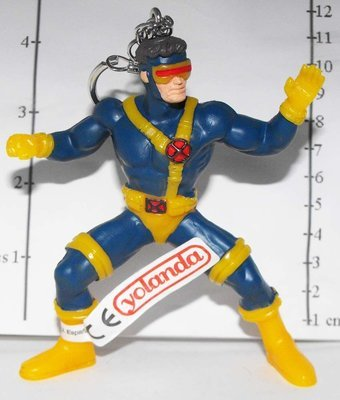 X-Men Cyclops Marvel Super Hero Figurine Keychain