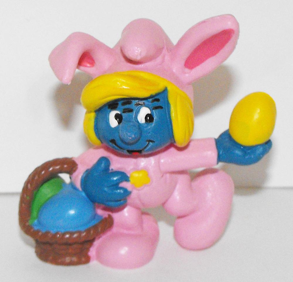 Smurfette as Easter Bunny Vintage Figurine 20497