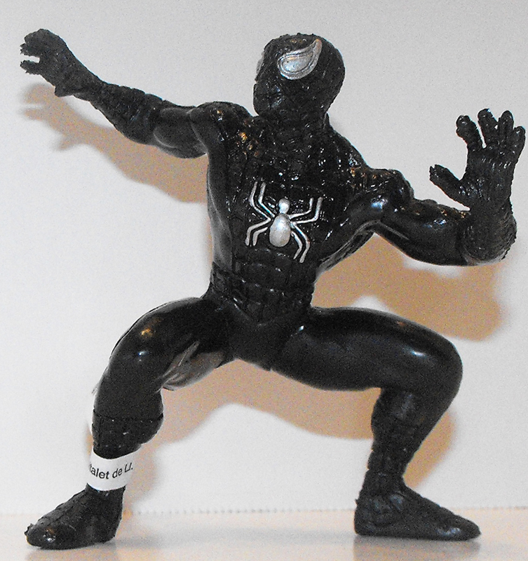 Black Spiderman (standing) Marvel Super Hero 4 inch Figurine