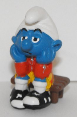 Soccer Bench Warmer Smurf 2 inch Figurine 20526