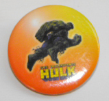 The Incredible Hulk Pin-on Button (orange)