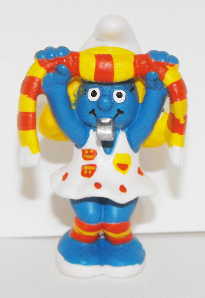 Soccer Fan Smurfette 2 inch Plastic Figure 20531