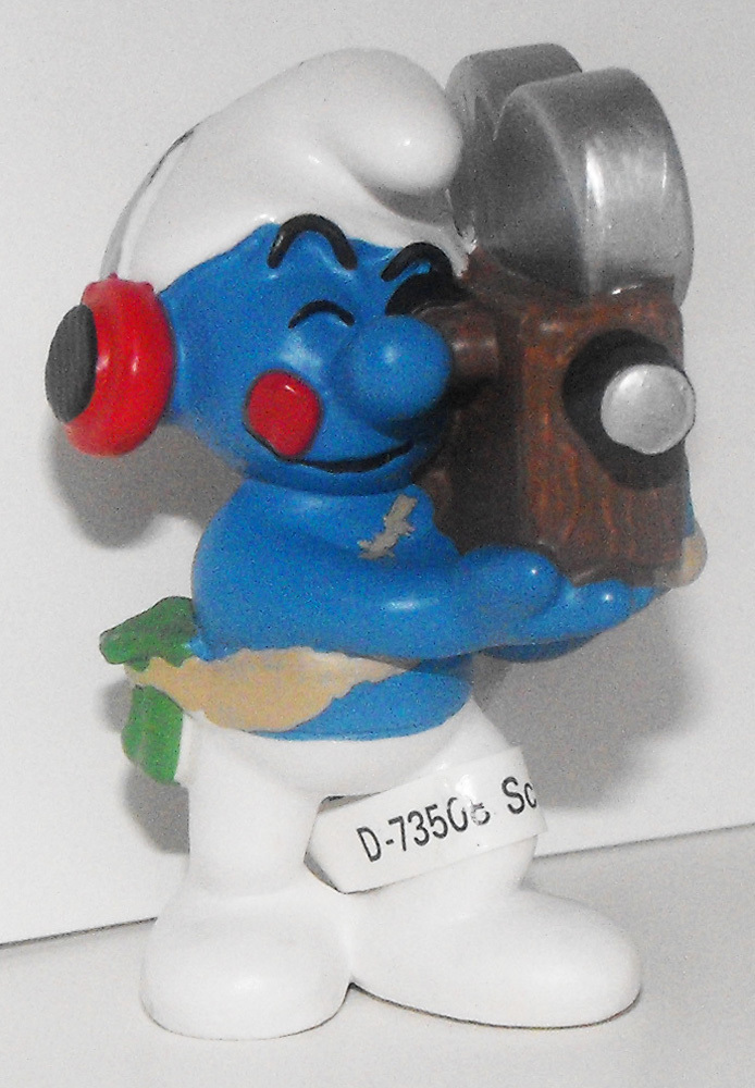 Movie Cameraman Smurf 2 inch Figurine 20714