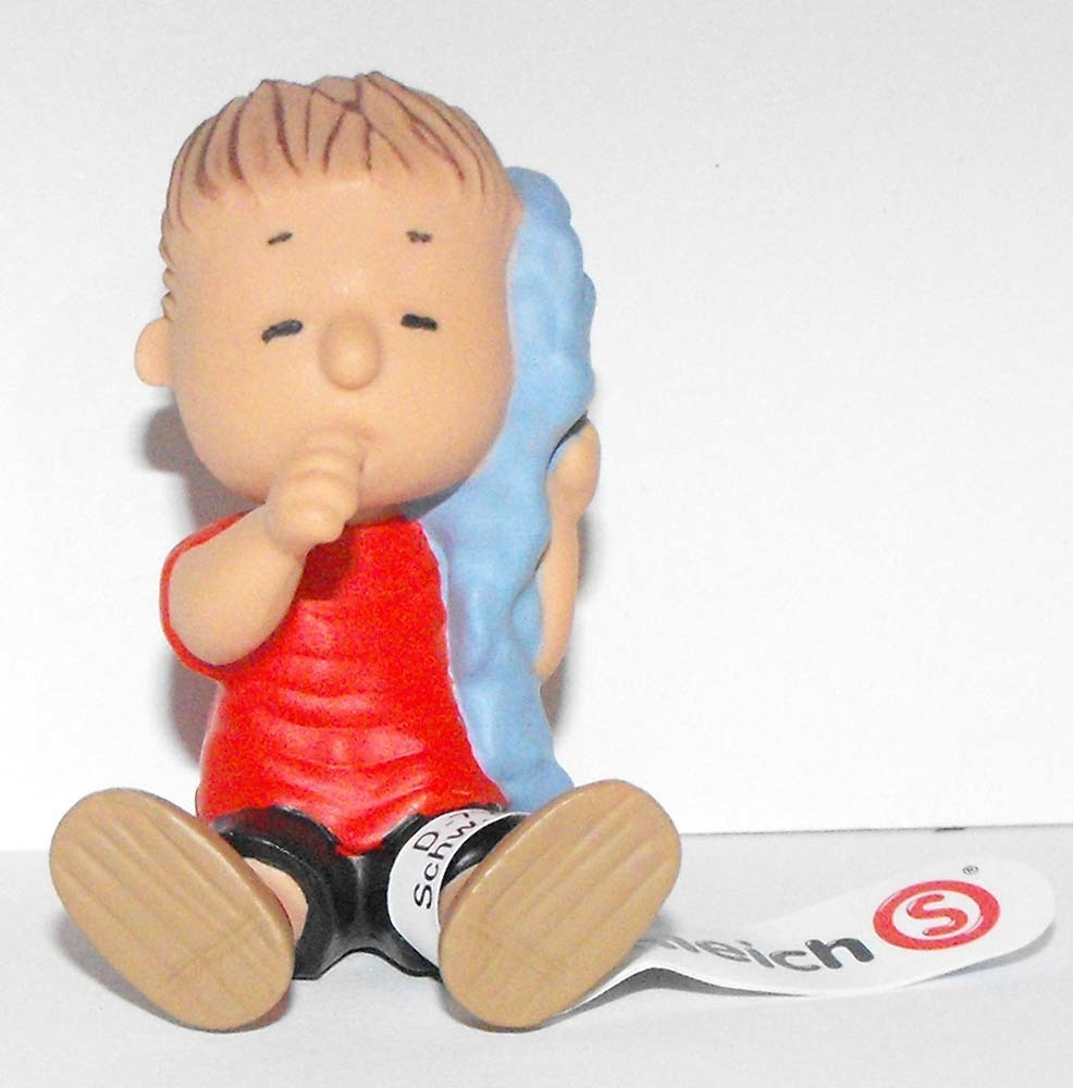 Linus Figurine Schleich 2 inch Plastic Miniature Figure PEANUTS SNOOPY
