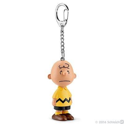 Charlie Brown 2 inch Plastic Figure Keychain PEANUTS SNOOPY Figurine KEY CHAIN