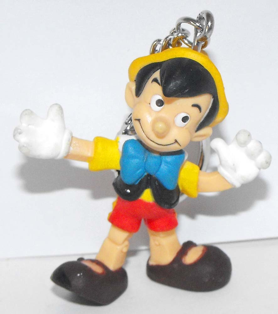 Pinocchio as a Real Boy Plastic Figurine Key Chain
