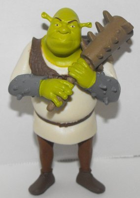 Shrek Holding Weapon 3 inch Plastic Figurine