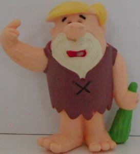 Barney Rubble 3 inch Flintstones Plastic Figurine