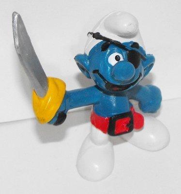 Pirate Smurf 2 inch Plastic Figurine 20104
