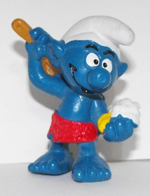 Sauna Smurf 2 inch Plastic Figurine 20108