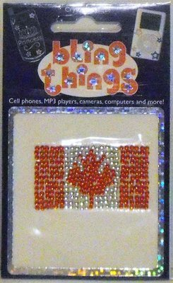 Canada Canadian Flag Crystal Crystal Cell Phone BLING THING iPhone Sticker Decal