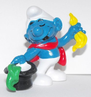 Conjurer Smurf 2 inch Plastic Figurine 20114 Magician