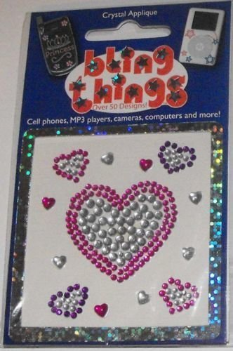 Big Heart and Little Hearts Cell Phone BLING THING iPhone Sticker iPod Decal