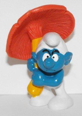 Umbrella Smurf 2 inch Plastic Figurine 20118